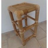 Tabouret carré bambou
