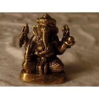 Miniature dorée du dieu Ganesh assis