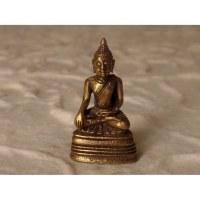Miniature dorée Bouddha en méditation