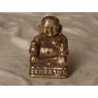 Miniature grise de Bouddha assis en tailleur