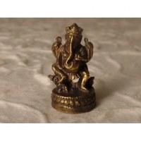 Ganesh jambe droite repliée doré