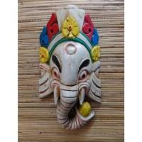 Masque Ganesh blanc