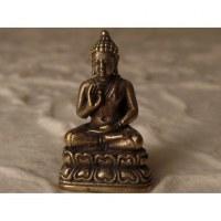 Bouddha assis abhayamudrâ gris