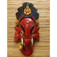 Masque Ganesh rouge et noir