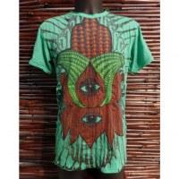 Tee shirt lotus eyes vert