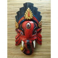 Masque Ganesh red