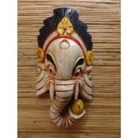 Masque Ganesh blanc et noir