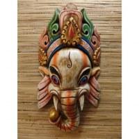 Masque Ganesh blanc cassé