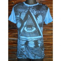 Tee shirt triangle oeil bleu de France