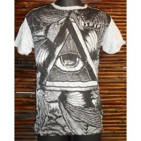 Tee shirt triangle oeil gris clair