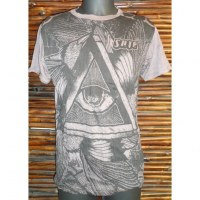 Tee shirt triangle oeil marron