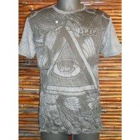 Tee shirt triangle oeil anthracite