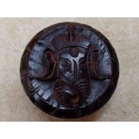 Grinder bois Ganesh sculpté