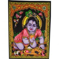 Tenture bébé Krishna
