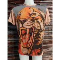 Tee shirt rose le tigre