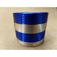 Grinder middle gris bandeau bleu