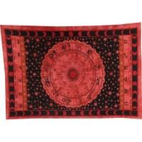 Tenture rouge astrologia