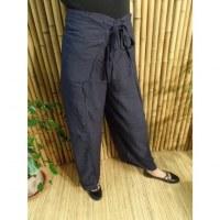 Pantalon paréo bleu marine