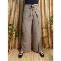 Pantalon paréo grège