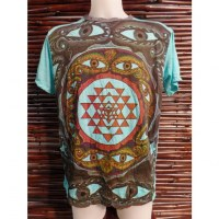 Tee shirt bleu mandala eyes