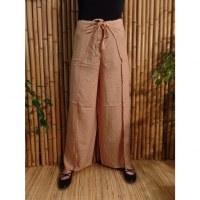 Pantalon paréo beige