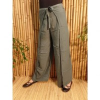 Pantalon paréo gris paon