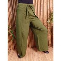 Pantalon paréo vert foncé