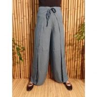 Pantalon paréo bleu océan
