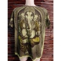 Tee shirt vert majesté Ganesh