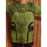 Tee shirt vert pomme éléphant aum