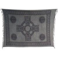 Paréo gris croix celte