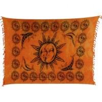 Mini tenture orange lune soleil et dauphins