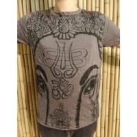 Tee shirt marron éléphant aum