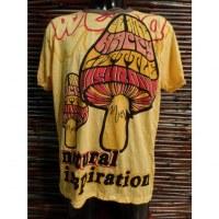 Tee shirt jaune champignons