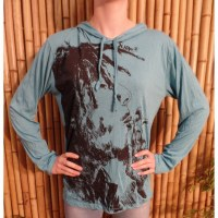 T shirt turquoise Bob Marley fumant