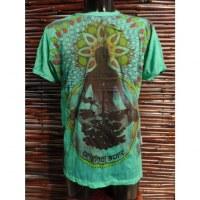 Tee shirt vert méditation