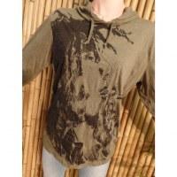 T shirt kaki Bob Marley fumant