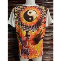 Tee shirt blanc yin yang hands
