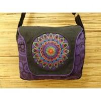 Sac à rabat Katmandou violet