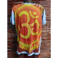 Tee shirt bleu Aum color