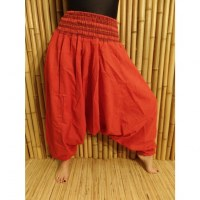Pantalon smocks Karnali rouge