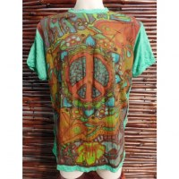 Tee shirt vert imagine peace and love