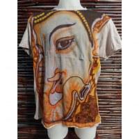 Tee shirt Ganesh gris clair