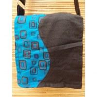 Sacoche noir/bleu wave seventies
