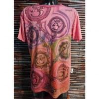 Tee shirt rose 7 chakras