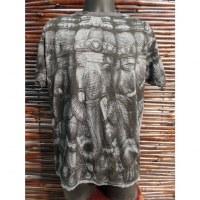 Tee shirt gris Ganesh multi faces