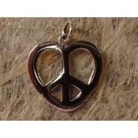 Pendentif cœur peace and love