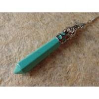Pendule hexa turquoise