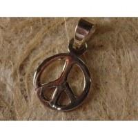 Petit pendentif argent Peace & Love