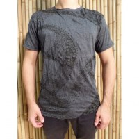 Tee shirt Bouddha flower anthracite